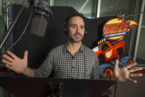 Race car driver Jimmie Johnson voices Dash on Nickelodeon's Blaze and the Monster Machines.
