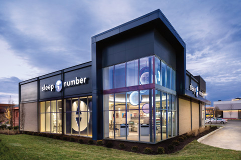 Sleep Number opens its 500th store on Friday, May 20, 2016. The store design was recently recognized by the Association of Retail Environments with an award for outstanding store design. (Photo: Sleep Number)