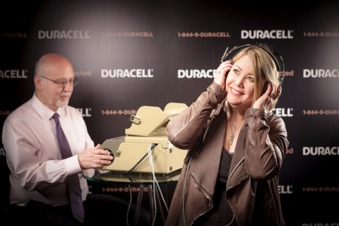 Canadian singer-songwriter Jann Arden helps to kick off the Duracell 'Stay Connected' initiative, which is about bringing more attention to the issue of hearing loss. Jann (right) had her own hearing tested by Dr. Marshall Chasin, AuD (left), and is encouraging Canadians everywhere to do the same. Duracell has made it easy to take the first step, from May 19th until June 26th, 2016 they are offering 10,000 free hearing screenings. Learn more about the hearing test at Duracell.com/stayconnected.