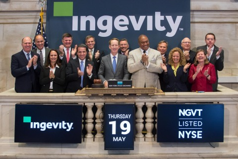 Ingevity President and Chief Executive Officer, Michael Wilson, had the honor of ringing the opening ...
