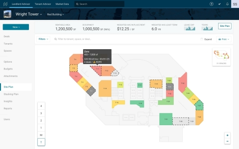Hightower customers can now store retail-specific data and see their data in a dynamic site plan. (P ...