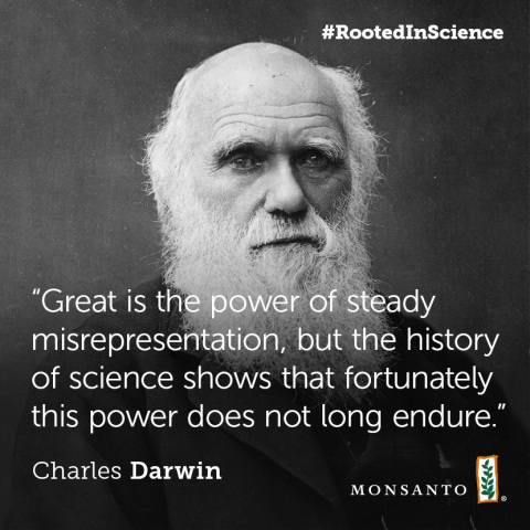 Charles Darwin quote on science and progress. (Graphic: Business Wire)