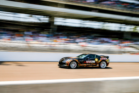 Sam Schmidt hitting 152 mph on the iconic Indy oval May 22, 2016. (Photo: Business Wire)