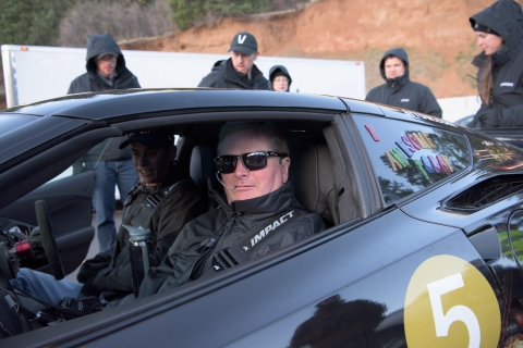 Sam Schmidt and co-driver Robby Unser in the new Arrow SAM car. (Photo: Business Wire)