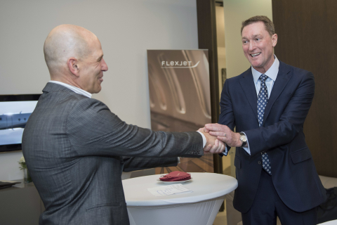 Michael Silvestro, left, Chief Executive Officer of Flexjet, and Ray Jones, right, Managing Director ...
