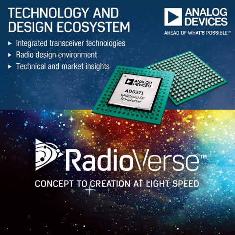 Analog Devices Simplifies Wireless System Design with RadioVerse™ Technology and Design Ecosystem (P ...