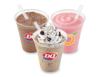 The Dairy Queen® system is now offering fans the choice of a new Vanilla, Salted Caramel or Mocha flavored Iced Coffee; new OREO®, Caramel Chip or Midnight Mocha DQ Ultimate Frappés; and Strawberry Banana, Tripleberry®, Mango Pineapple and the new Strawberry Watermelon Orange Julius® Premium Fruit Smoothies at one of the best values in the industry. (Photo: Business Wire)