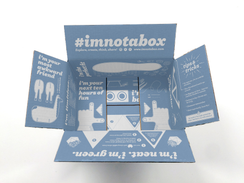 Zappos.com will ship a limited amount of special edition white boxes starting June 1 as part of the #ImNotABox campaign. (Photo: Business Wire)