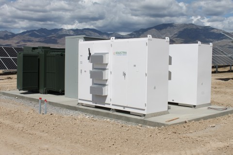 Yaskawa - Solectria Solar SGI 750XTM inverters installed at the 17.5MW PV System in the Mojave Deser ...