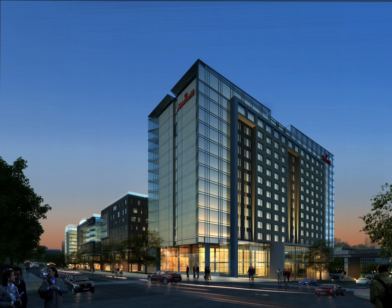 Construction Underway And On Schedule For The New Marriott Capitol District Hotel In Omaha Neb Business Wire