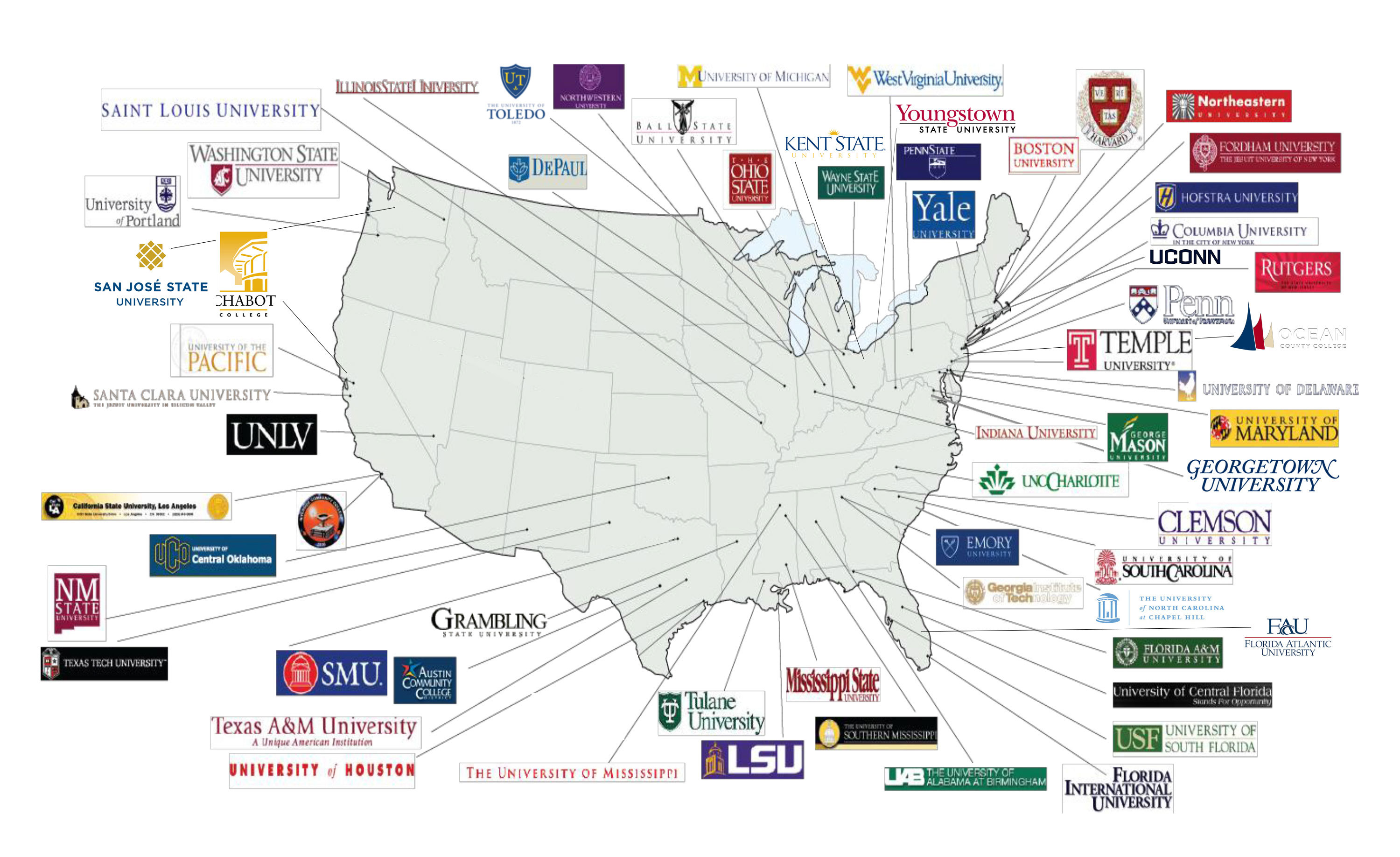 florida map of colleges and universities