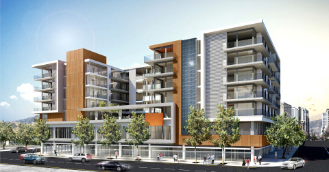 The Richman Group of California Development Company has broken ground on F11, a seven-story mixed-use apartment project in Downtown San Diego, located on F Street between 11th Avenue and Park Boulevard. F11 includes 99 apartments, extensive recreational amenities and 5,841 sq. ft. of commercial space. (Photo: Business Wire)