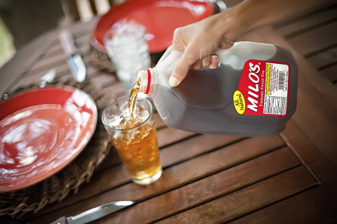 Milo's Sweet Tea is different because it is fresh brewed from custom-blended tea leaves, all natural, and contains no preservatives, no additives, and no acids. (Photo: Business Wire)