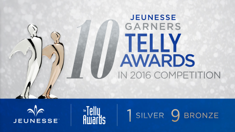 Jeunesse was honored for seven video projects in the 2016 Telly Awards. (Graphic: Business Wire)