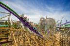 The Joker ride has three twisted inversions (Photo: Business Wire)
