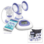 Lansinoh Laboratories, a global leader in breastfeeding products and accessories, adds to its legacy of first-to-market innovation by launching the Lansinoh® Smartpump™, a double electric breast pump designed for today's busy mom. The new Smartpump is the first pump on the market to incorporate Bluetooth® technology that allows for seamless pairing between the pump and a new, free Lansinoh Baby™ app. (Photo: Business Wire)
