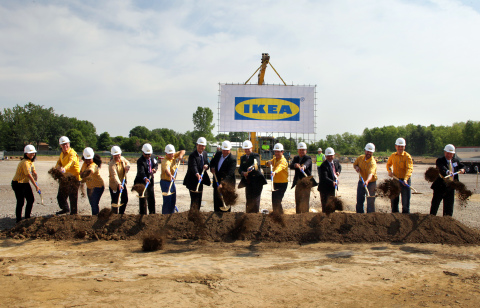 Expanding its U.S. presence, Swedish retailer IKEA breaks ground on future Columbus store, opening Summer 2017. (Photo: Business Wire)