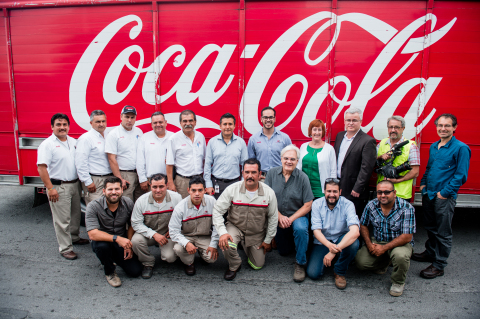 Drivers from Arca Continental out on deliveries, serving the many neighborhood stores that represent an important part of their business success. (Photo: Business Wire)