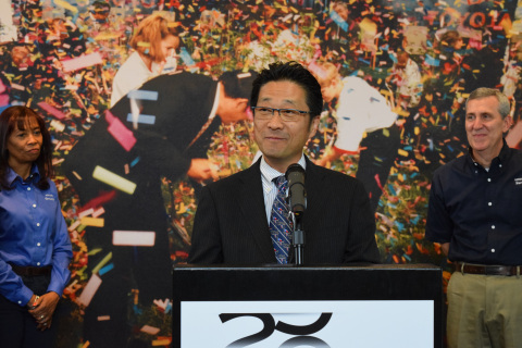 """It is clear the Toyota Indiana plant has a long and bright future,"" said Osamu ""Simon"" Nagata, Executive Vice President and Chief Administrative Officer of Toyota Motor North America, Inc. (Photo: Business Wire)"