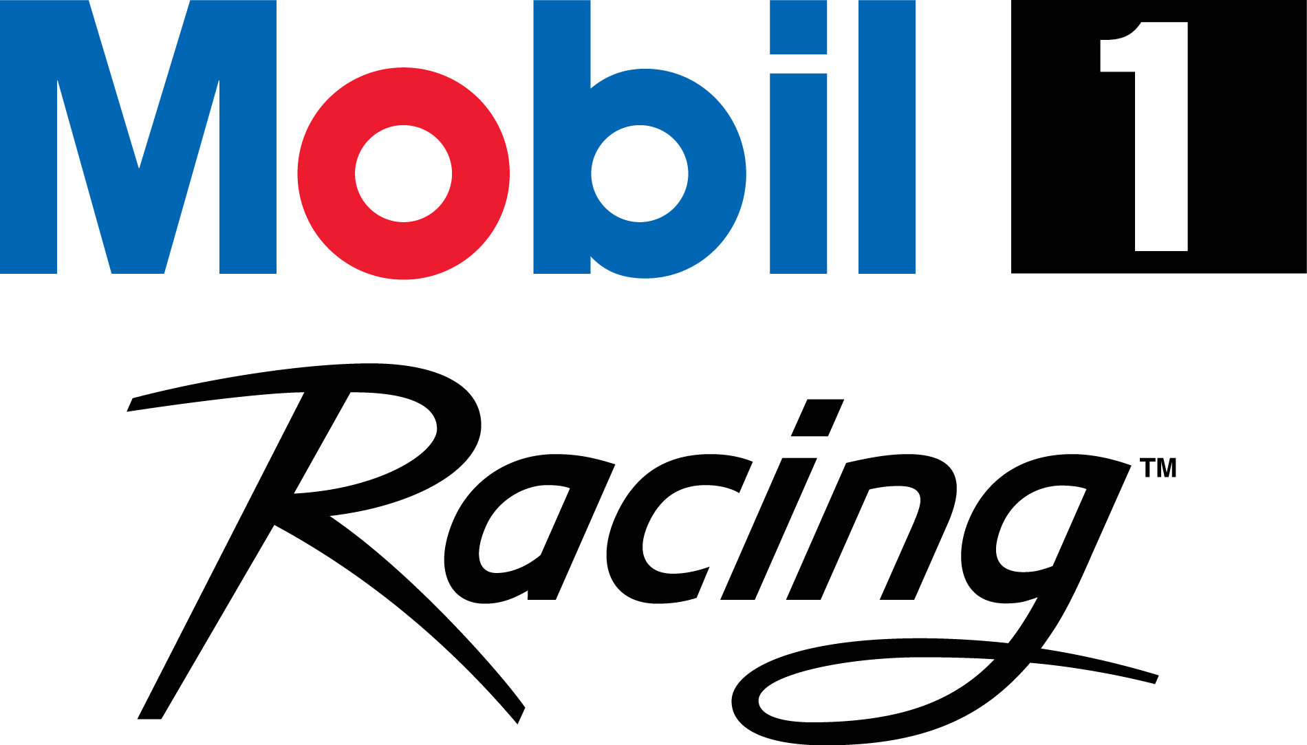 Mobil 1 motor oil gears up for more three wide action for Mobile logo