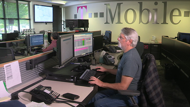 Inside a T-Mobile Network Operation Center: Engineers work around the clock, closely managing network traffic and coordinating any response to an event such as the aftermath of a hurricane.