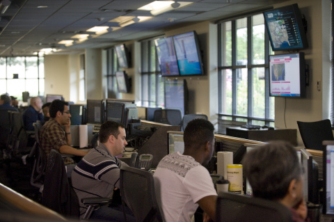 Inside a T-Mobile Network Operation Center: T-Mobile's Geo-Redundant Network Operation Centers (NOCs) closely manage network traffic and coordinate any response to an event such as the aftermath of a hurricane. (Photo: Business Wire)
