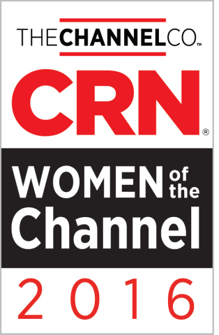 Riverbed Technology executives Lynn Tinney and Michelle Hodges recognized as CRN 2016 Women of the Channel (Graphic: Business Wire)