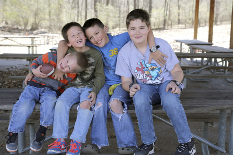 """The Dover Brothers, United States, Ezra, Noah, Judah, and Josiah, an Acute Lymphoblastic Leukemia (ALL) Survivor. According to their parents, """"Rare cancer can be an isolating experience because many do not know anyone else who has walked the same path, and therefore don't understand the challenges they face. We'd like our story to offer hope for families who find themselves on that same path."""" (Photo: Business Wire)"""