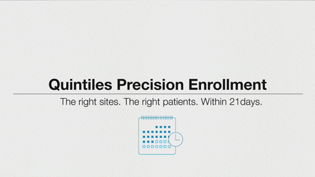 Quintiles' Precision Enrollment offering is designed to significantly accelerate site start-up and patient recruitment in oncology clinical trials.