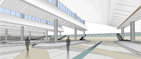 Rendering of Terminal 4 FIS Expansion at Ft. Lauderdale-Hollywood International Airport (Graphic: Business Wire)