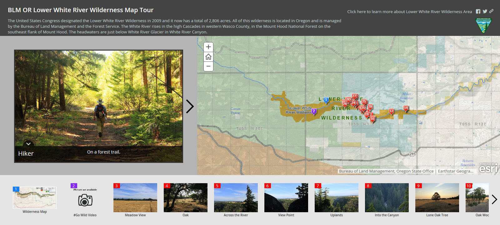 the bureau of land management uses esri story maps to encourage