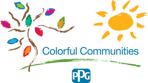 The COLORFUL COMMUNITIES™ program is PPG's signature initiative for community engagement efforts, with the aim to protect and beautify the neighborhoods where PPG operates around the world. Together with community partners and PPG employees who volunteer, the program supports projects that transform community assets using donated PPG products.