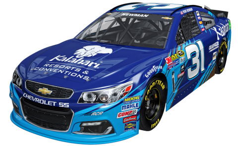 Preview of Ryan Newman's No. 31 Chevrolet SS sponsored by Kalahari Resorts and Conventions, which will compete at Pocono Raceway on June 5, 2016 (Photo: Business Wire)