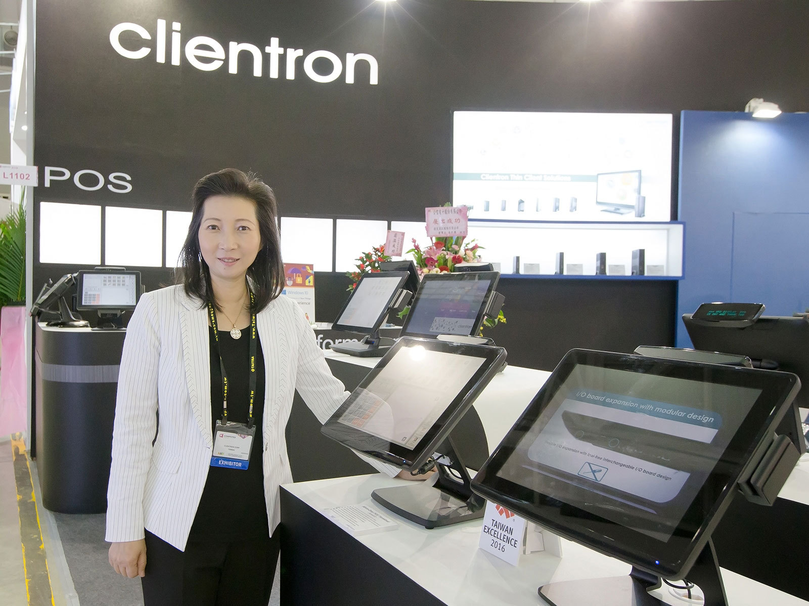 """""""Clientron offers comprehensive Thin Client and POS products lineup at Computex 2016,"""" said Kelly Wu, President & CEO of Clientron. (Photo: Business Wire)"""