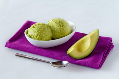 Chef Jessica Koslow's California Avocado Cardamom Ice Cream (photo cred: California Avocado Commissi ...
