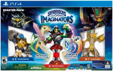 PS4 Starter Pack Image - Skylanders Imaginators, the newest game in the Skylanders franchise gives players immense possibilities -- including appearance, powers, abilities, names, catchphrases, musical themes and much more -- to create the wildest Skylanders imaginable. Skylanders Imaginators will launch on Oct. 16 in North America. (Photo: Business Wire)