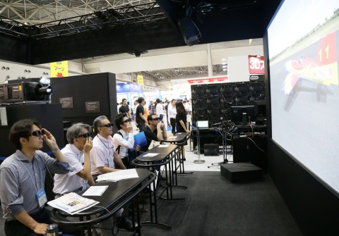 Scene from 2015 show - active business meetings were seen everywhere (Photo: Business Wire)