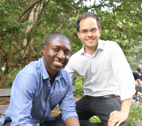 RubiconMD Co-founders Gil Addo, CEO, [left] and Carlos Reines, COO, [right]. Not pictured: Dr. Julien Pham. (Photo Credit: Esther Quintana)