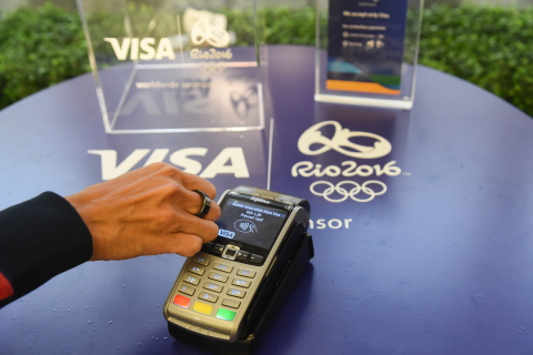 This Visa payment ring is the first-ever NFC-enabled, tokenized payment ring. Visa created the ring for its Team Visa athletes competing in the Rio 2016 Olympic and Paralympic Games. (Photo: Business Wire)