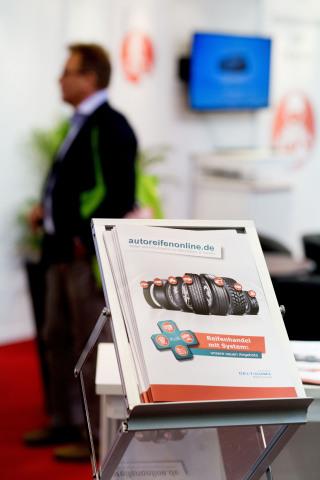 Autoreifenonline.de präsentierte die gesamte Bandbreite seiner Delticom B2B Services (Foto: Business Wire)