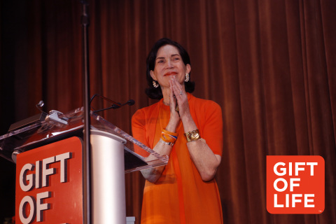 Gift of Life Marrow Registry honored Wendy Siegel at the 16th Annual Gala on June 2, 2016 at the Grand Hyatt NYC. (Photo: David Nicholas)