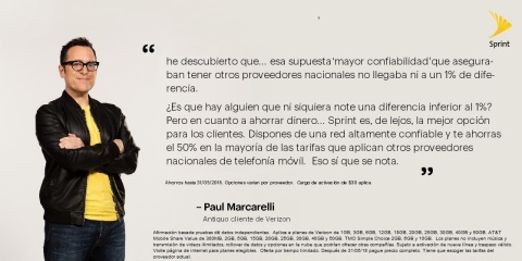 Paul te dice porque pagar mas por el mismo servicio (Photo: Business Wire)