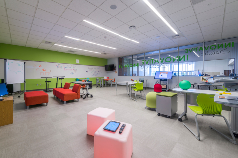 The Innovation Solution Classroom at Region 11 (Photo: Office Depot, Inc. & Wade Griffith)