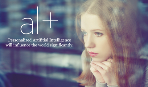 Main screen of personal artificial intelligence al+ (Photo: Business Wire)