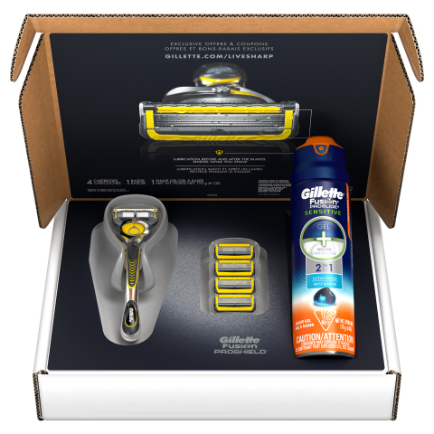 Gillette Shave Club featuring the Gillette Fusion ProShield with FlexBall Technology (Photo: Business Wire)