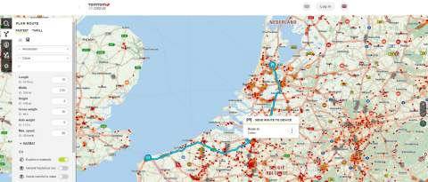 TomTom MyDrive Route Planning – Now Available for Truckers (Photo: Business Wire)