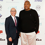 David McCourt chairman and CEO of Granahan McCourt with Hollywood actor Omar Miller at the launch of ALTV (Photo: Business Wire)