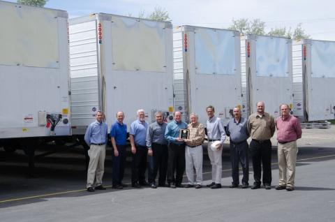 Pictured from left to right: Joe Kiechler, Director of Purchasing Mike Egbert, Plant Engineer Gary F ...