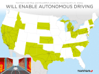 TomTom launches HD Map & RoadDNA for 17 new states (Graphic: Business Wire)