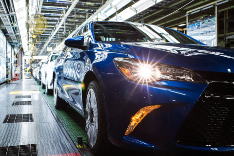 America's best-selling car rolls off the line at Toyota Kentucky. (Photo: Business Wire)